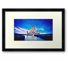 disney castle Framed Print