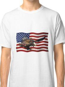 US FLAG & Bald Eagles Patriotic Design Classic T-Shirt