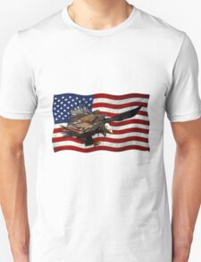 US FLAG & Bald Eagles Patriotic Design Unisex T-Shirt