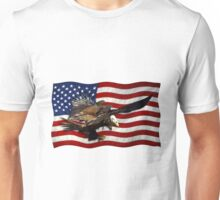 US FLAG & Bald Eagles Patriotic Design Unisex T-Shirt