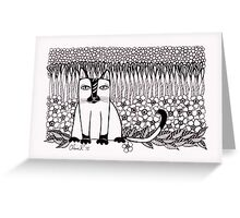 Black Paws Greeting Card