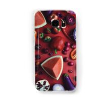 Red and purple food Samsung Galaxy Case/Skin