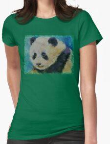 Panda Cub Womens Fitted T-Shirt