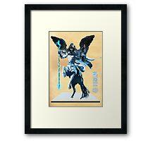 The White Queen's Knight Framed Print