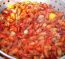Crawfish Boil On Sunday by Wanda Raines