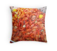 Crawfish Boil On Sunday Throw Pillow