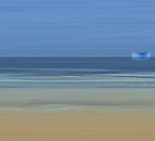 Ship on the horizon by Marlies Odehnal