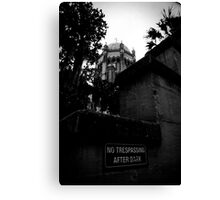 None Shall Tresspass Canvas Print
