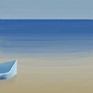 Ship at the beach by Marlies Odehnal