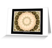 White Hydrangea Kaleidoscope #1 Greeting Card