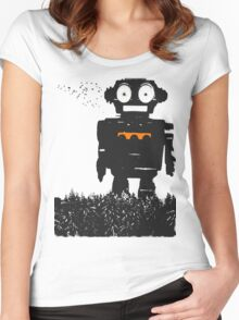 Giant Robot T-shirt Women's Fitted Scoop T-Shirt