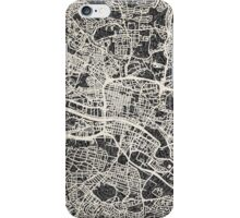 Glasgow map iPhone Case/Skin