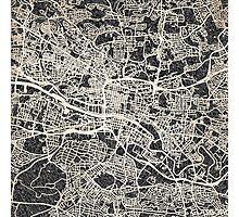Glasgow map Photographic Print