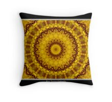 Yellow Flower Kaleidoscope #1 Throw Pillow