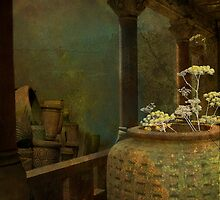 Pot with flowers by Jeff Burgess