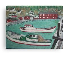 boats by cannery Canvas Print