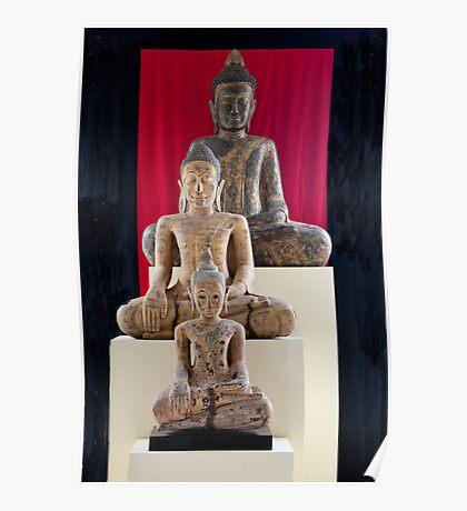Three Buddhas Of Cambodia Poster