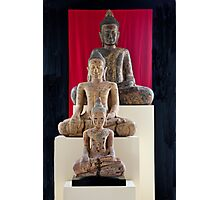 Three Buddhas Of Cambodia Photographic Print