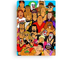 icons of wrestling Canvas Print