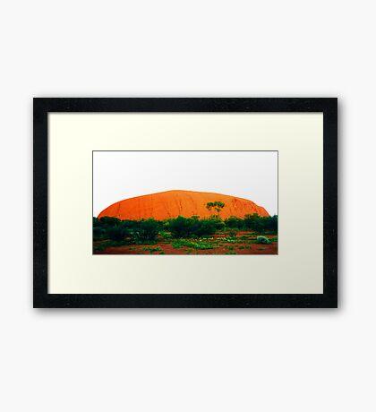 Uluru Glowing Red Framed Print