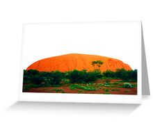Uluru Glowing Red Greeting Card