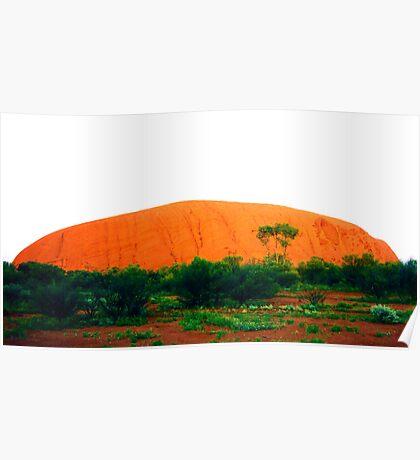 Uluru Glowing Red Poster