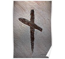 Symbol Of Salvation - Wood Cross Poster