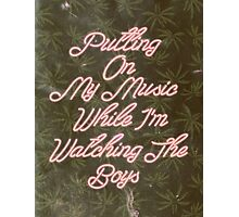 Putting On My Music Photographic Print