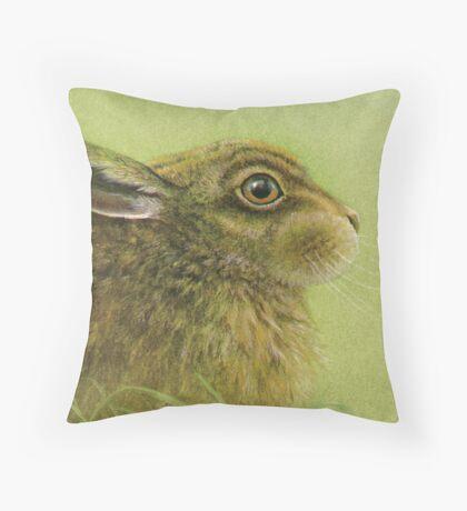 Portrait of a Rabbit Throw Pillow
