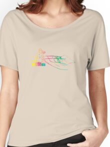 Mazooda_ChickWave_Rainbow Women's Relaxed Fit T-Shirt