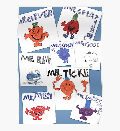 More of Jimmy's Mr Men Poster