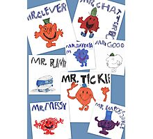 More of Jimmy's Mr Men Photographic Print