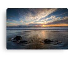 West Coast Sun Still Going Down Canvas Print