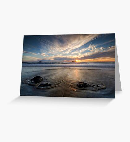West Coast Sun Still Going Down Greeting Card