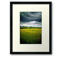 Storm over barley, The Cotswolds, England Framed Print