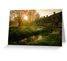 Arlington Row, The Cotswolds, England Greeting Card