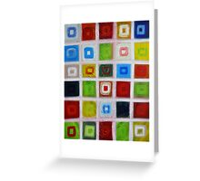Cubes - Oil on canvas Greeting Card