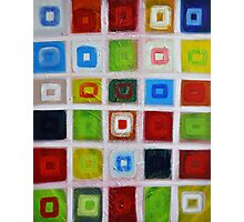 Cubes - Oil on canvas Photographic Print