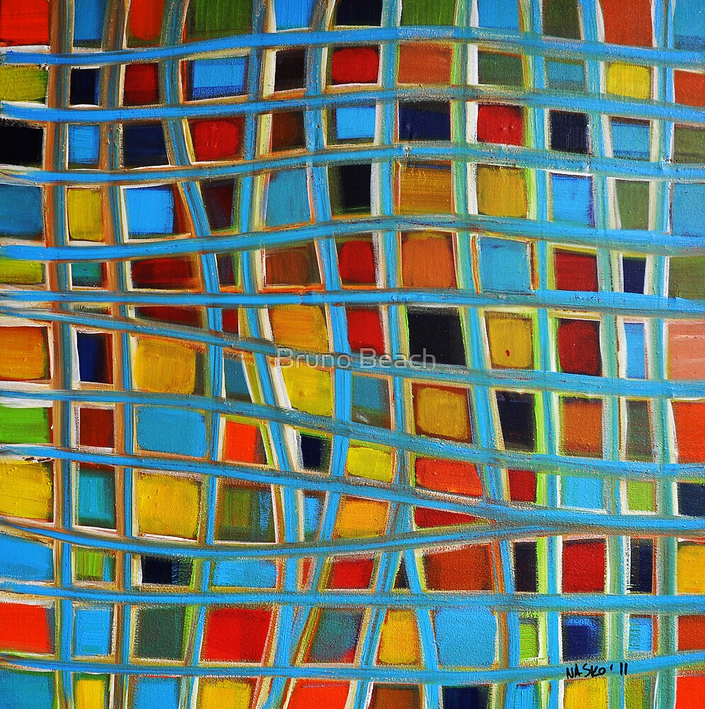 Abstract Cubes by Bruno Beach