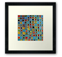 Abstract Cubes Framed Print