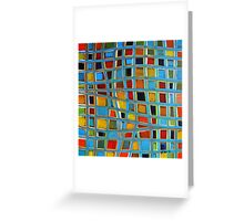 Abstract Cubes Greeting Card
