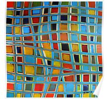 Abstract Cubes Poster
