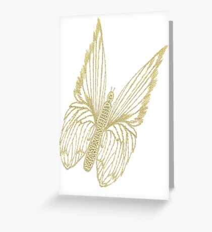 Gilded Butterfly see also Golden Butterflies Greeting Card