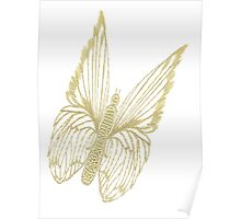 Gilded Butterfly Poster
