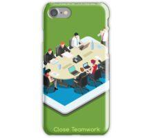 Startup Teamwork Tablet Virtual Meeting Room iPhone Case/Skin