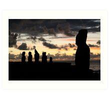 the last sun of 2010 - the guardians  Art Print