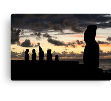 the last sun of 2010 - the guardians  Canvas Print