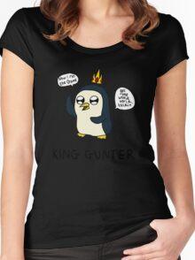 King Gunter (Adventure Time/Kendrick Lamar Mash Up) Women's Fitted Scoop T-Shirt