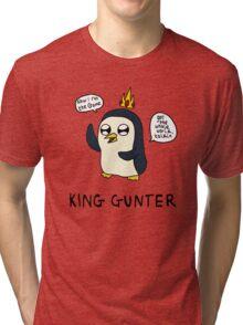 King Gunter (Adventure Time/Kendrick Lamar Mash Up) Tri-blend T-Shirt