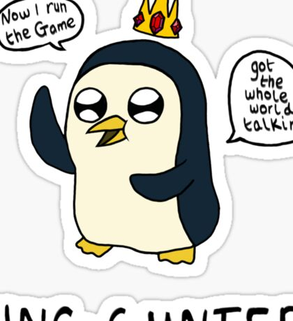 King Gunter (Adventure Time/Kendrick Lamar Mash Up) Sticker